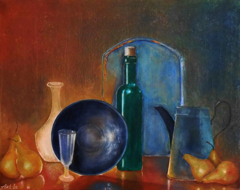 Still Life with Pears, by Artur Isayan