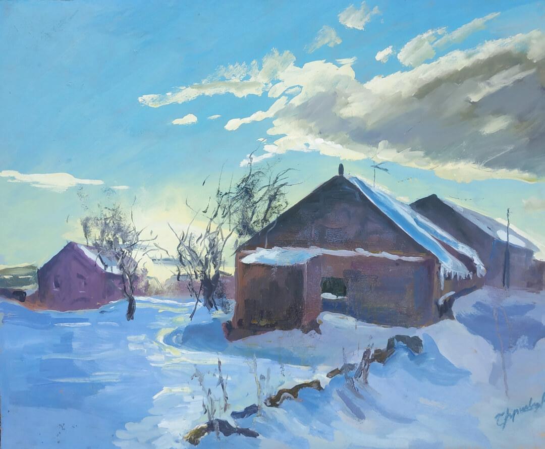 Arevshat's Winter, by Varazdat Barsegian