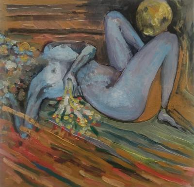 Lust, oil painting by Sose Karakhanyan