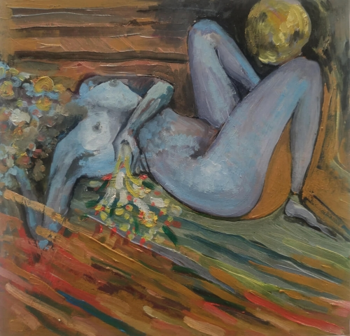 Lust, oil painting by Sose Karakhanyan