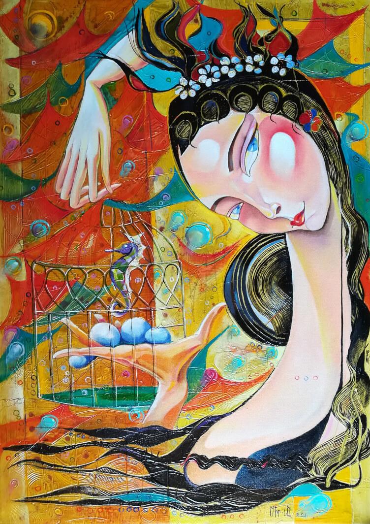 «Երազ», յուղանկար, հեղինակ՝ Անահիտ Միրիջանյան