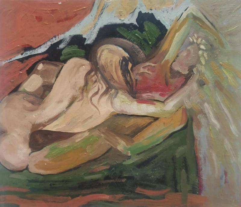 «Անբաժան սեր», յուղանկար, հեղինակ՝ Սոսե Կարախանյան