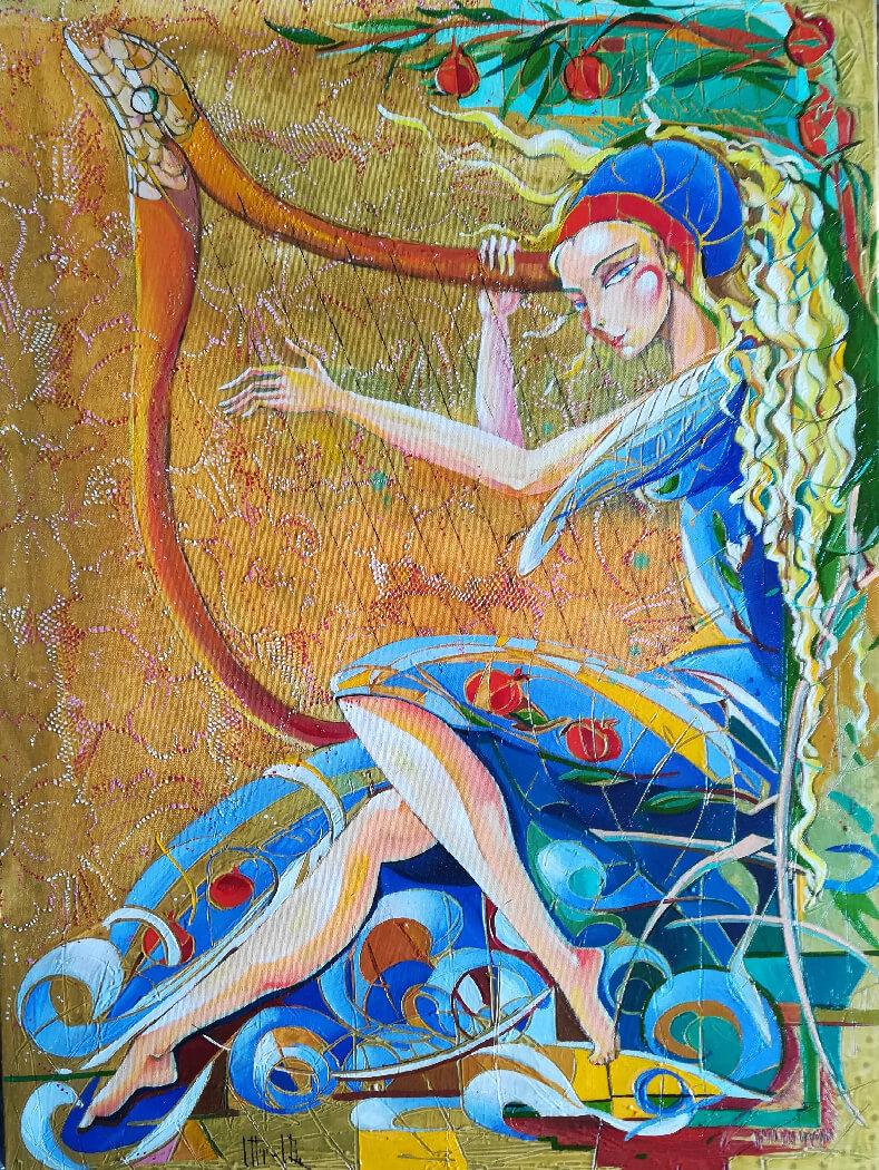 «Մեղեդի», յուղանկար, հեղինակ՝ Անահիտ Միրիջանյան
