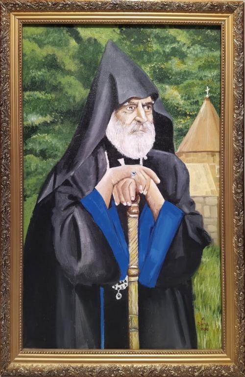 Archbishop Pargev, painting by Narek Avanesyan