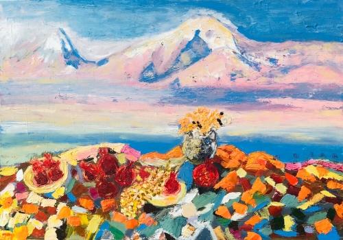 «Հայաստան», յուղանկար, հեղինակ՝ Նունե Շահպարոնյան
