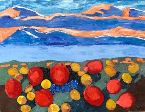 «Հայաստան 2», յուղանկար, հեղինակ՝ Նունե Շահպարոնյան