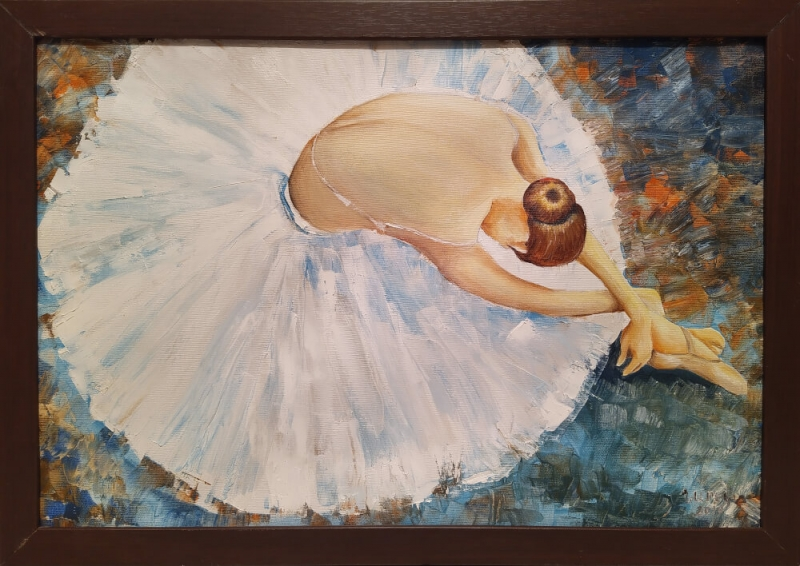 Ballet Dancer, painting by Narek Avanesyan