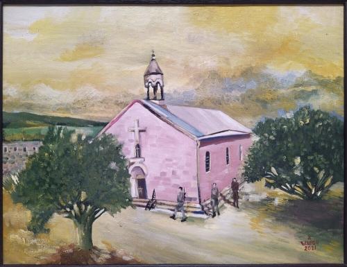 «Եկեղեցու պահապանները», յուղանկար, հեղինակ՝ Նարեկ Ավանեսյան