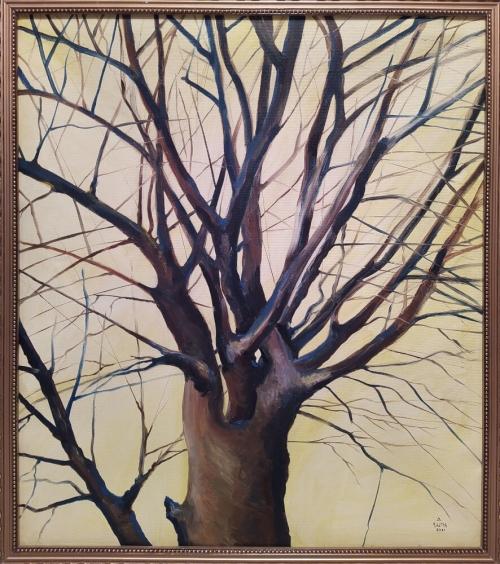 «Ճարտարի ծառը», յուղանկար, հեղինակ՝ Նարեկ Ավանեսյան