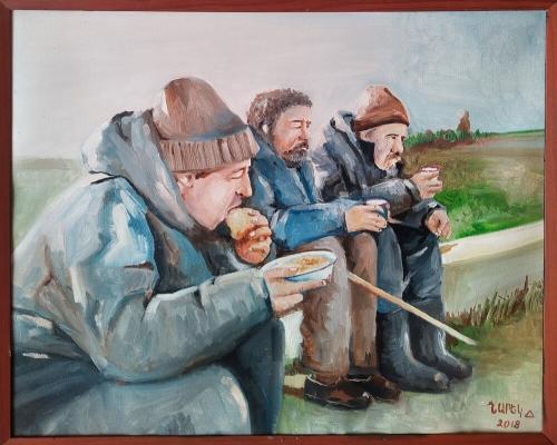 Break Time, painting by Narek Avanesyan