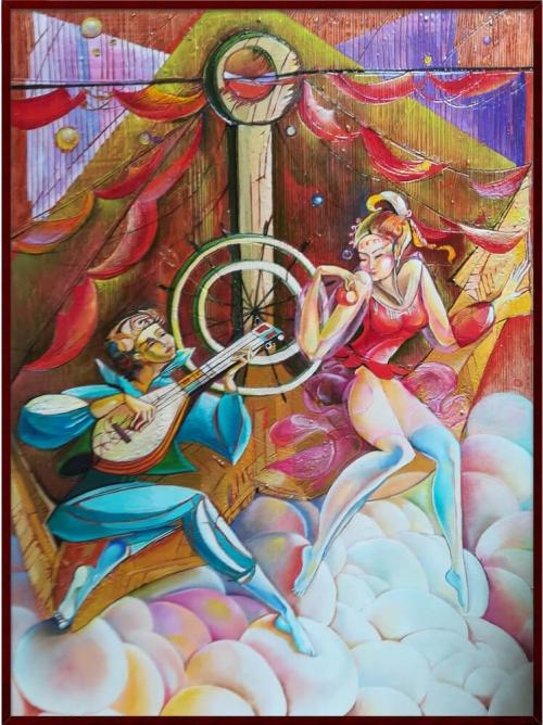 «Խոստովանություն», յուղանկար, հեղինակ՝ Անահիտ Միրիջանյան