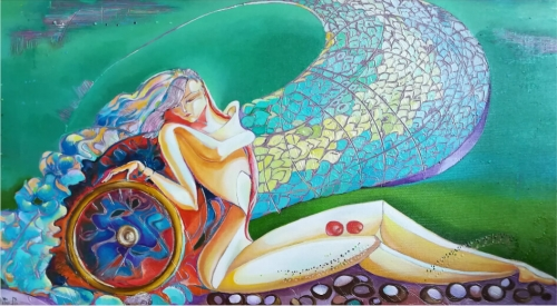 The Wheel of Life, painting by Anahit Mirijanyan