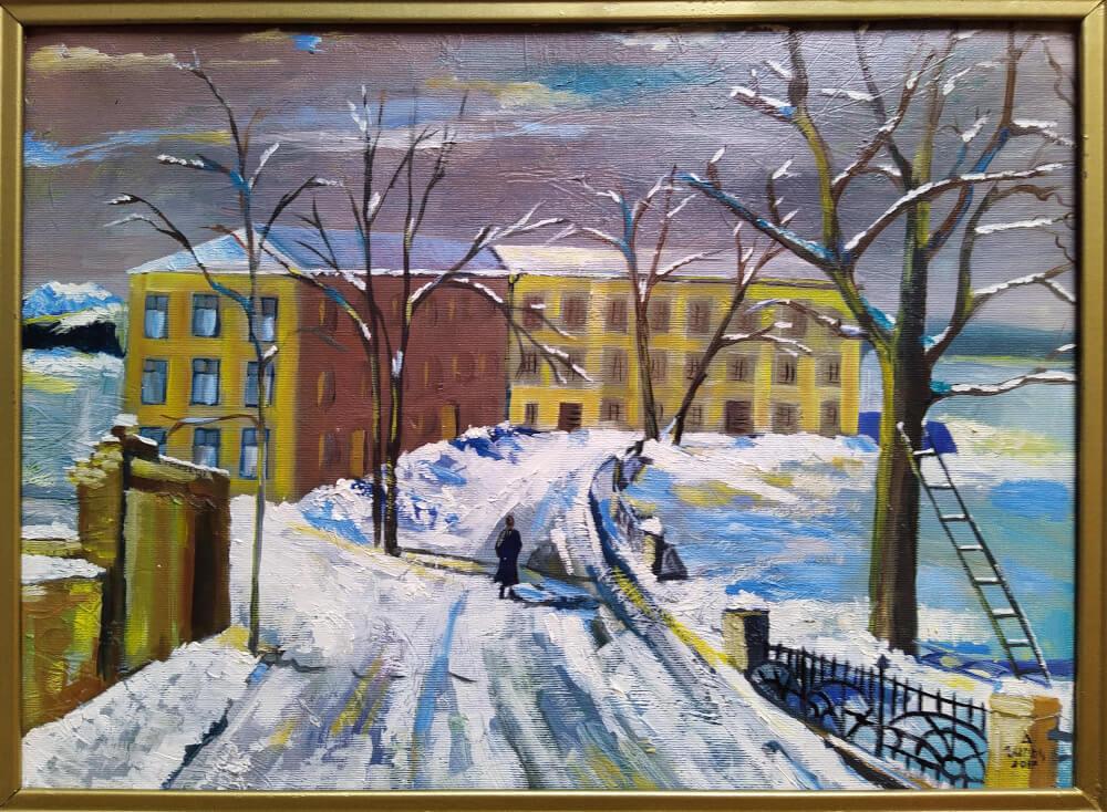 Winter, painting by Narek Avanesyan