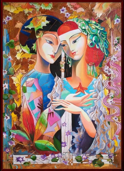 «Սիրո խոստովանություն», յուղանկար, հեղինակ՝ Անահիտ Միրիջանյան