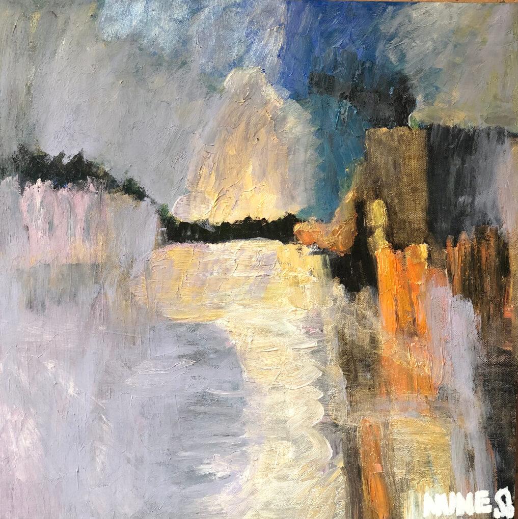 «Մայրամուտ», յուղանկար, հեղինակ՝ Նունե Շահպարոնյան